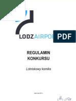 "Regulamin konkursu na ""Lotniskowy Komiks"""