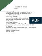 Ejemplo de Cálculo de Horas Suplementarias