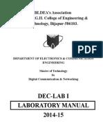 MTech(DCN) DEC-I Manual