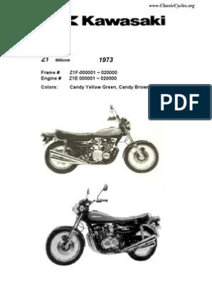 1973 kawasaki 90 wiring diagrams kawasaki z1 900 z900 illustrated parts list diagram manual 1973  kawasaki z1 900 z900 illustrated parts