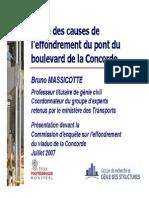 Cause de l'Effondrement Du Pont de Boulevard de La Concorrde