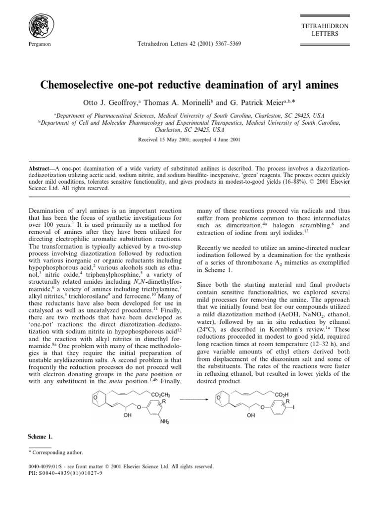 Diazotazione NaNO2 NaHSO3 | Amine | Unit Processes