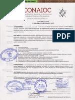 Convocatoria Asamblea CONAIOC