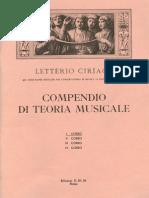 I Corso - Compendio Di Teoria Musicale - Letterio Ciriaco