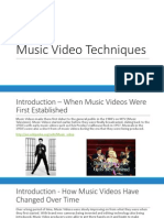 music video techniques