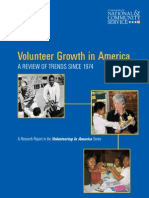 Volunteer Growth in America