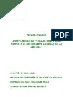 ensayo 1APORTACIONES DE THOMAS REID Y KARL POPPER A LA CONCEPCIÓN MODERNA DE LA CIENCIA