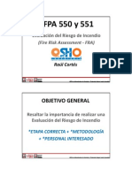 01 - Evaluación de Riesgos Según NFPA 550 y 551 (Congreso NFPA Mexico 2014)