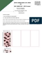 Gabarito Simulado OAB 15 3 2015 - LFG