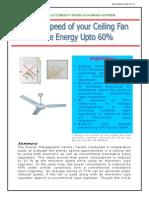 Fan Regulator Energy Savings