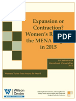 Expansion or Contraction? Women's Rights in the MENA Region in 2015