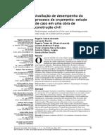AZEVEDO, Rogério Cabral Et Al. Avaliação de Desempenho Do Processo de Orçamento Estudo de Caso Em Uma Obra de Construção Civil. Ambient. Constr.(Online), Porto Alegre, V. 11, n. 1, 2011.