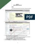 Wordpress Modul 15 Akhir Pembuatan Blog