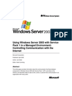 Using Windows Server 2003 in a Managed Environment SP1