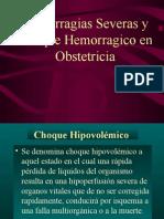 Hemorragias Severas y Choque Hemorragico en Obstetricia