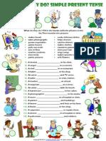 present simple tense esl grammar exercise with jobs  theme.pdf