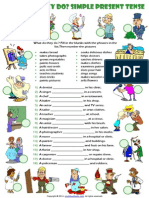 present simple tense esl grammar exercise with jobs  theme.pdf