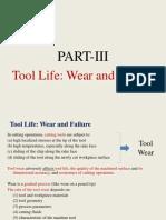 Tool Life Wear and Failure