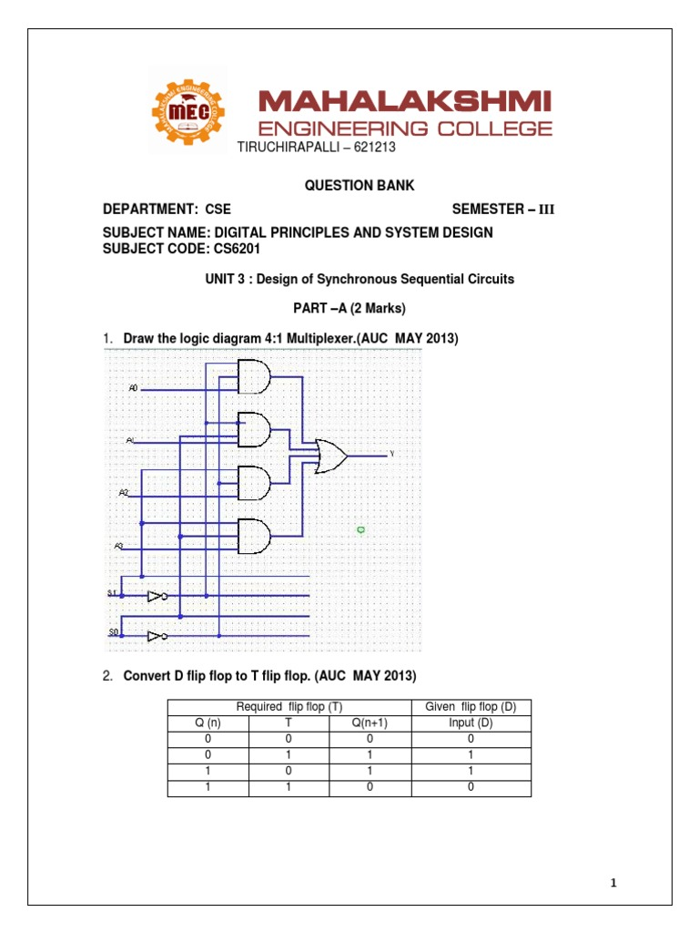 Logic Diagram For D Flip Flop Best Wiring Library Analysis Of Sequential Circuits With J K And T Flopdigital
