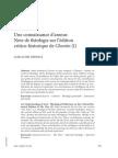 Une connaissance d'amour.   Note de théologie sur l'édition  critico-historique de Chemin (I)
