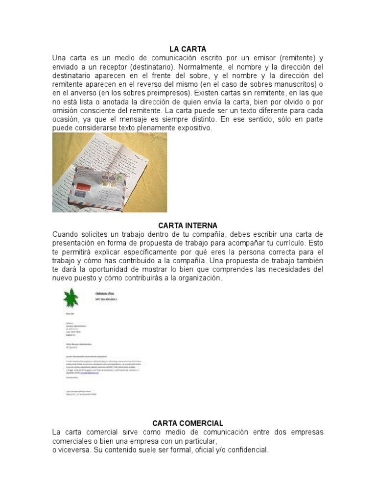 Atractivo Escribir Carta De Presentación De Trabajo Interna Fotos ...