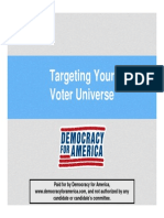 Targeting Your Voter Universe