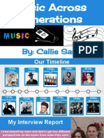 music across generations - callie saric