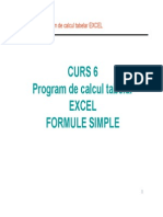 Curs 6 S1 - Program de Calcul Tabelar EXCEL