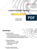Fluent 6.0 Staff Training Combustion and DPM