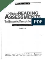 rasinski & padak-3-minute assessment 5-8