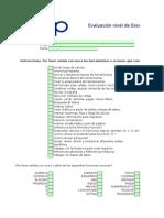 Evaluacion Nivel de Excel