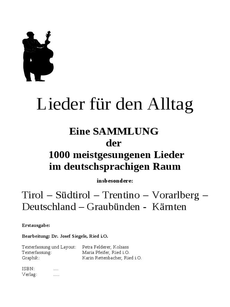 VOLKSLIEDER - Tirol - Südtirol - Österreich - Bayern - Deutschland ...
