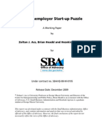 The Nonemployer Start-up Puzzle