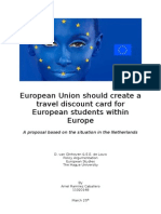 European Union should create a travel discount card for European students within Europe.docx
