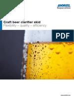Andritz Craft beer clarifier skid