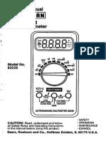 Craftsman AutoRanging Digital Multimeter 82029