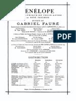 Faure - Penelope (Vocal Score)