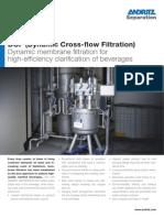 Andritz DCF (Dynamic Cross-flow Filtration)