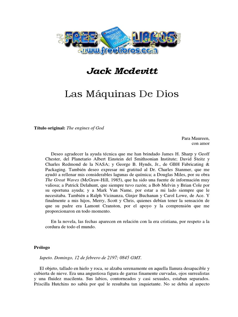 3bbd6d9e2e Mcdevitt, Jack - Las Maquinas de Dios