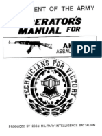AK47 US Army Operator Manual
