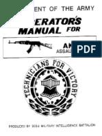 AK47 US Army Operator Manual