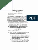 Decreto Ley Nro 973 - Regimen Recuperacion IGV