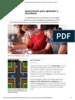 Videojuegos y Aplicaciones Para Aprender a Programar en Secundaria - RTVE