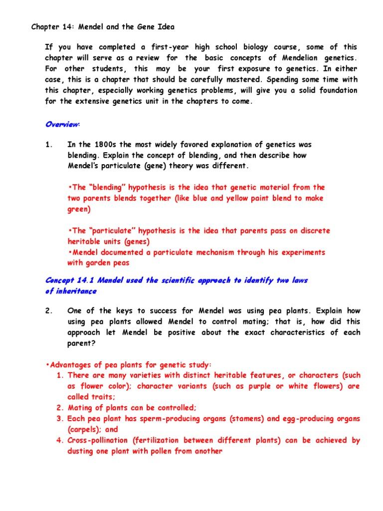 worksheet Section 14 2 Human Chromosomes Worksheet Answers ap biology reading guide chapter 14 dominance genetics allele