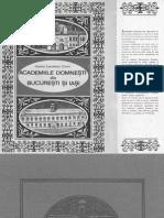 Academiile Domnesti - Ariadna Camariano-Cioran
