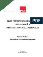 Teze pentru reconstructia ideologica a Partidului Social Democrat