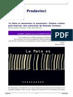 Rolando Carmona - La Meta Es Desmontar La Simulación