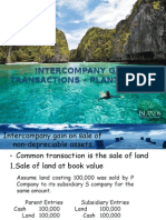 Intercompany Gain Transactions – Plant Assets
