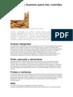 Alimentos buenos para las cuerdas vocales.doc