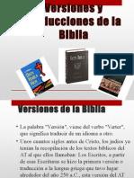 Versiones y Traducciones de La Biblia